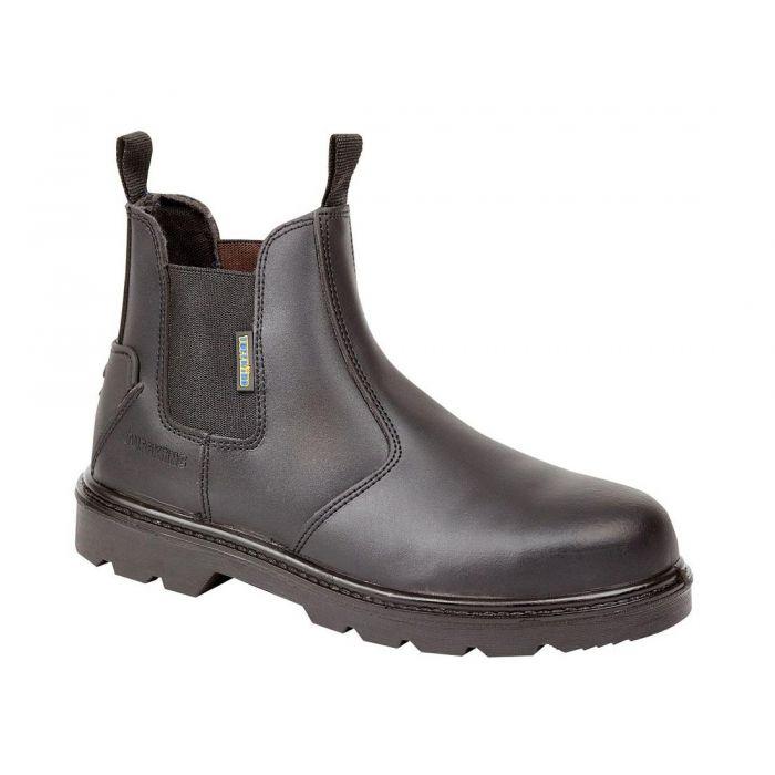 black leather dealer boots