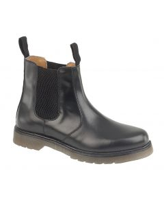 Grafters Black Leather Chelsea Boots