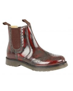 Grafters Oxblood Leather Dealer Boots